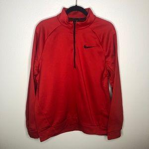 Nike Dri-Fit Red Quarter Zip
